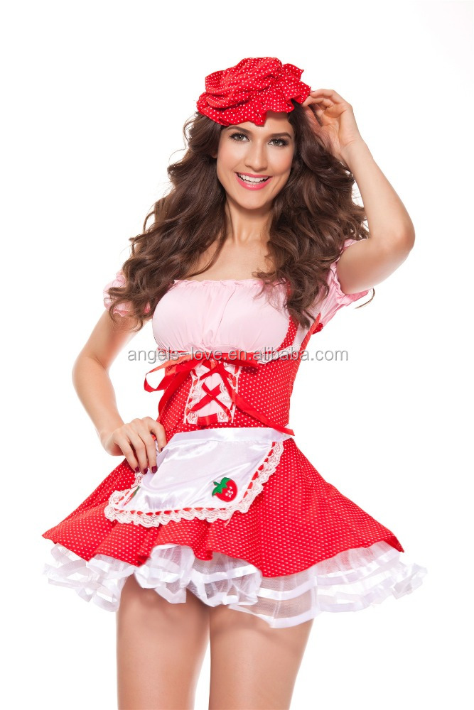 High quality Hot Selling French Maid Halloween Costumes Bulk
