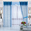 High density blackout window curtain full dull flocking eyelet