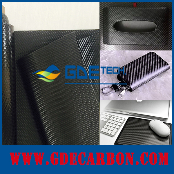 Wholesale carbon fiebr leather fabric for men's leather wallet