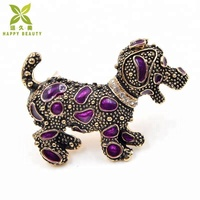 Vintage dog animal brooch for children jewelry