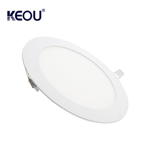 Ultra-thin 9w 12w 15w round/square led panel ceiling lamp keou brand