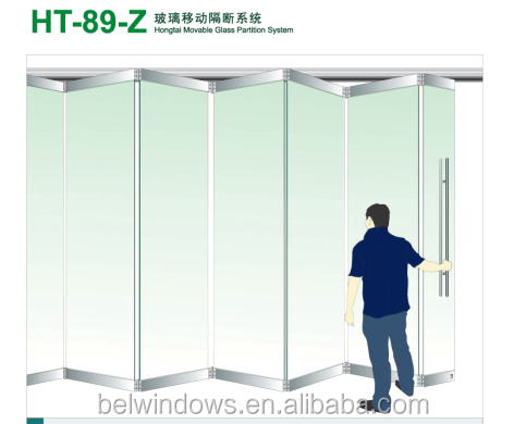 frameless folding glass door,frameless glass folding door,tempered glass