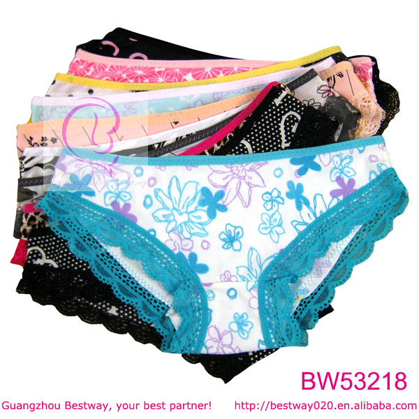 Lovely cute bottom underwear little girls bikini for wholesale cheap about 0.1 USD colorful kid size assoreted girls bikini