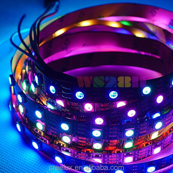 addressable 12v dmx ic magic led strip WS2812 rgb dream one pixel cuttable individually controll