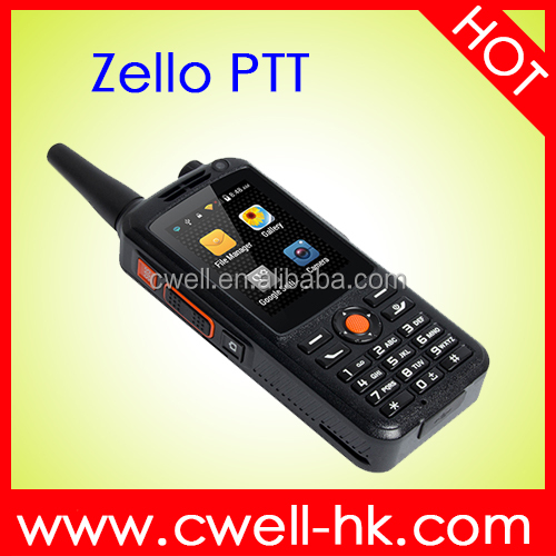 Zello PTT Android Smart Mobile Phone With Walkie Talkie 2.4 inch Dual Core 512MB RAM 4GB ROM 5mp Camera Support GPS/BDS