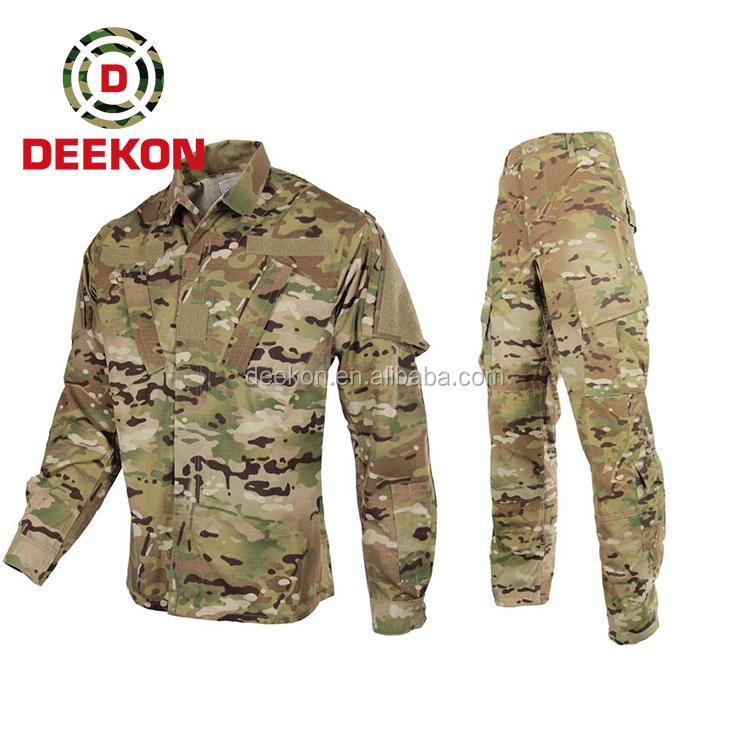 高品質 acu 軍服、マルチカム迷彩軍服、軍制服