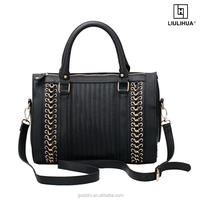 2018 new model fashion woman pure leather handbags made in China factory ladies bag
