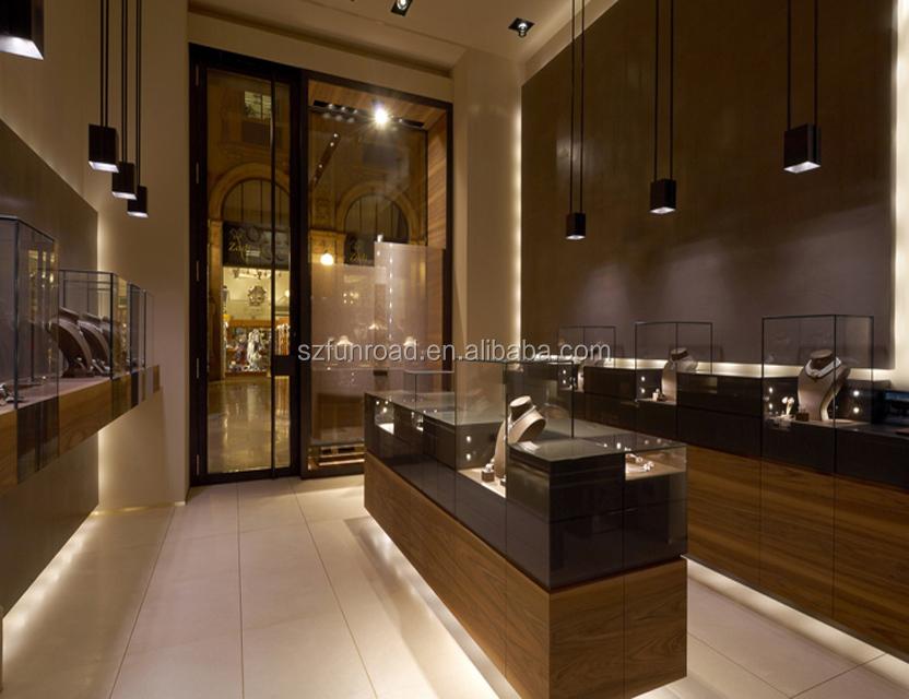Luxury commercial jewelry display shop interior design for retail custom jewellery showroom furniture design