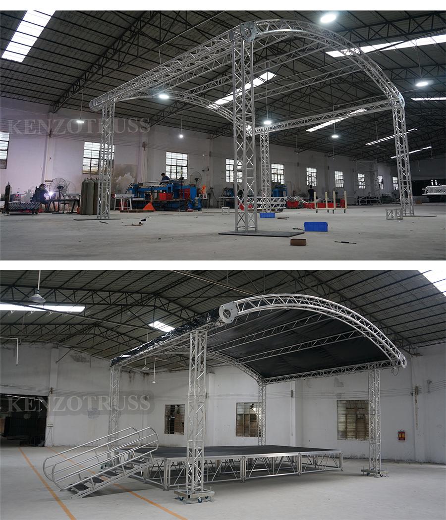 Aluminum Arch Truss roof for Sale
