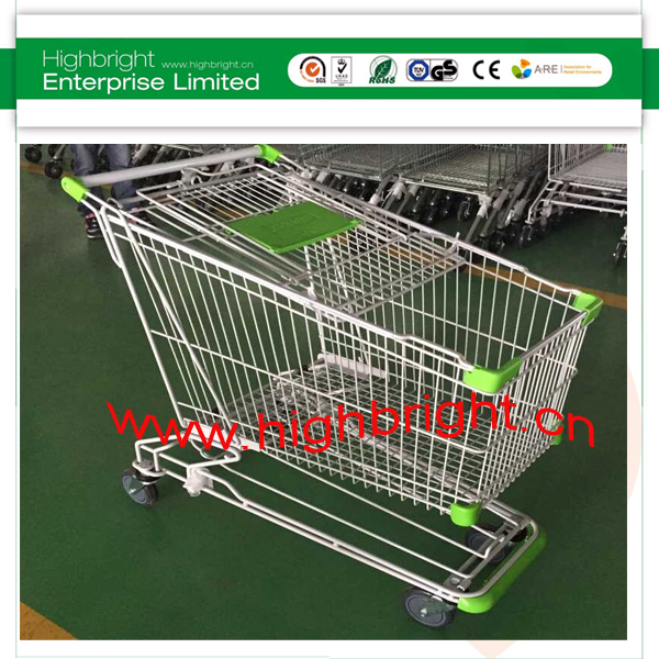 pull along 4 wheels modern foldable shopping trolley