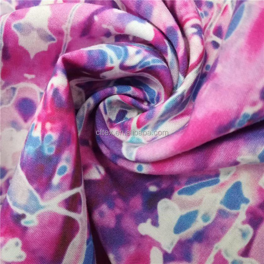 Factory Direct Custom digital printed challis rayon fabric
