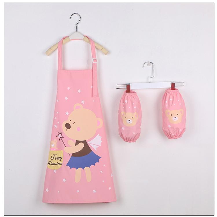 Bambini grembiule da cucina su misura logo cotone colorato grembiule impermeabile per i bambini
