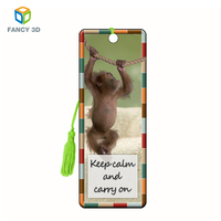 5D and 3D lenticular printing custom bookmark for promotion gift or souvenir