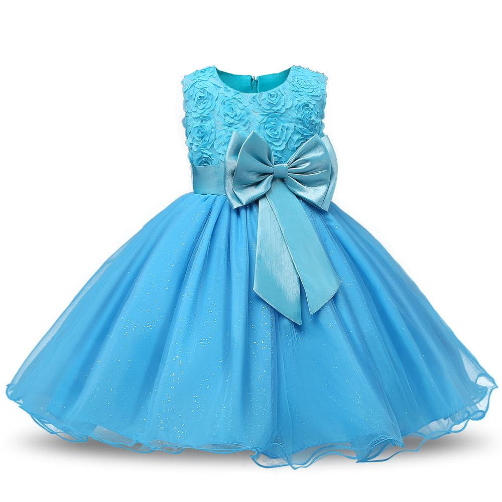 Girl Sleeveless Lace 3D Flower Tutu Holiday Pretty Princess Dresses Party Ready Made Kids Dress YY10409 фото