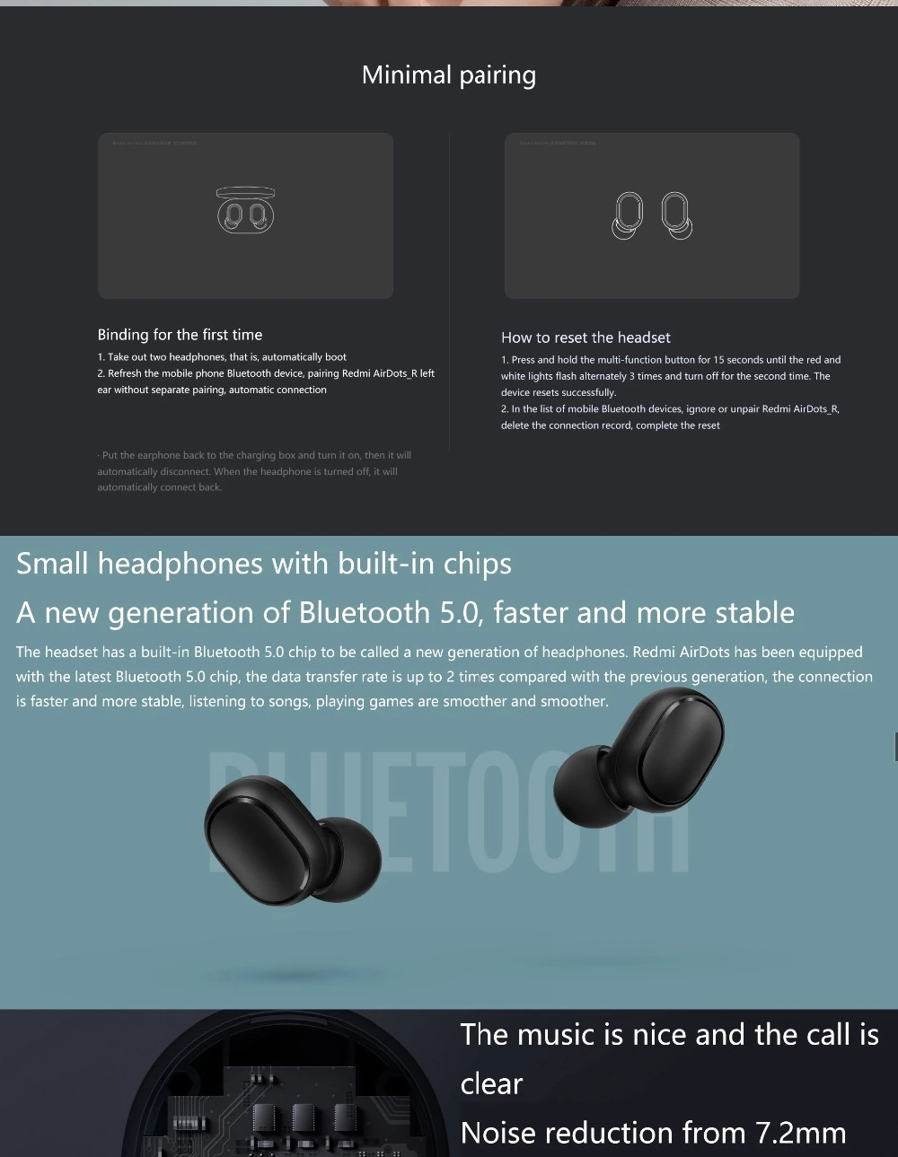 Asli Xiaomi Redmi Airdots Headphone Nirkabel Bluetooth Headset