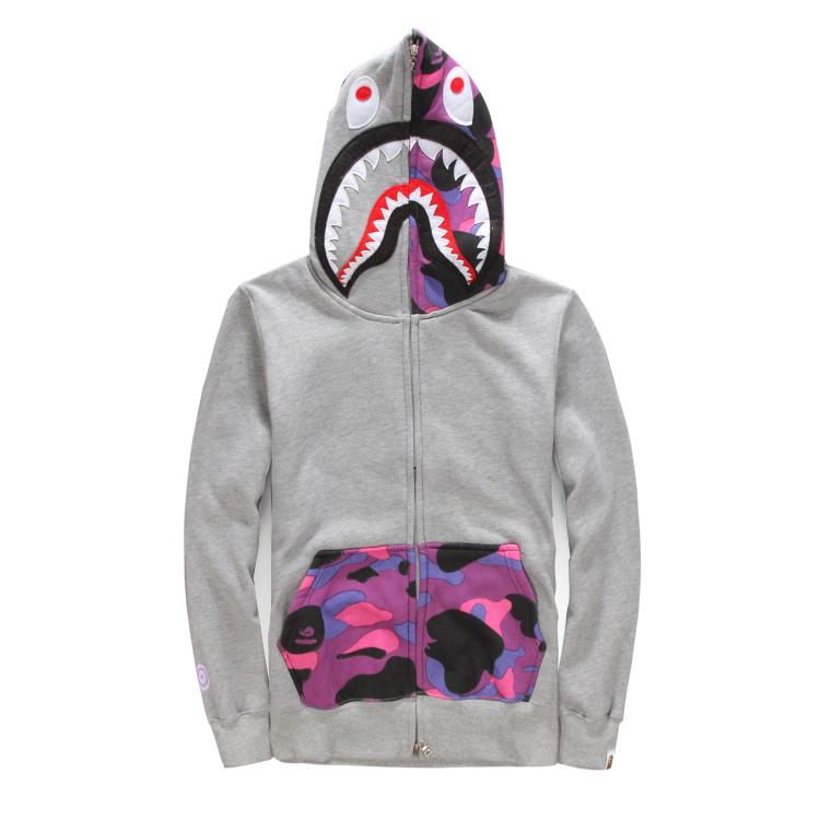 6f5519026795 Get Quotations · High-quality custom-made 2015 new winter Brand bape Letter  WCG shark head hoodies