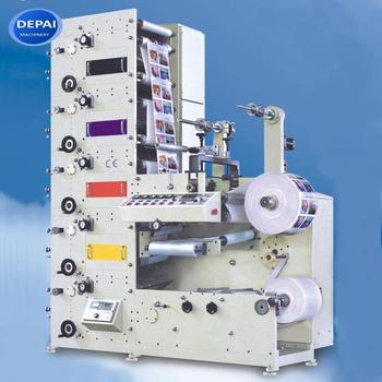 Depai sticker label flexo printing press machine