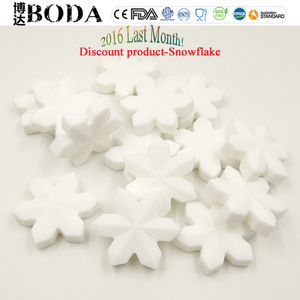 BODA silicone Discount silicone snowflake teething bead