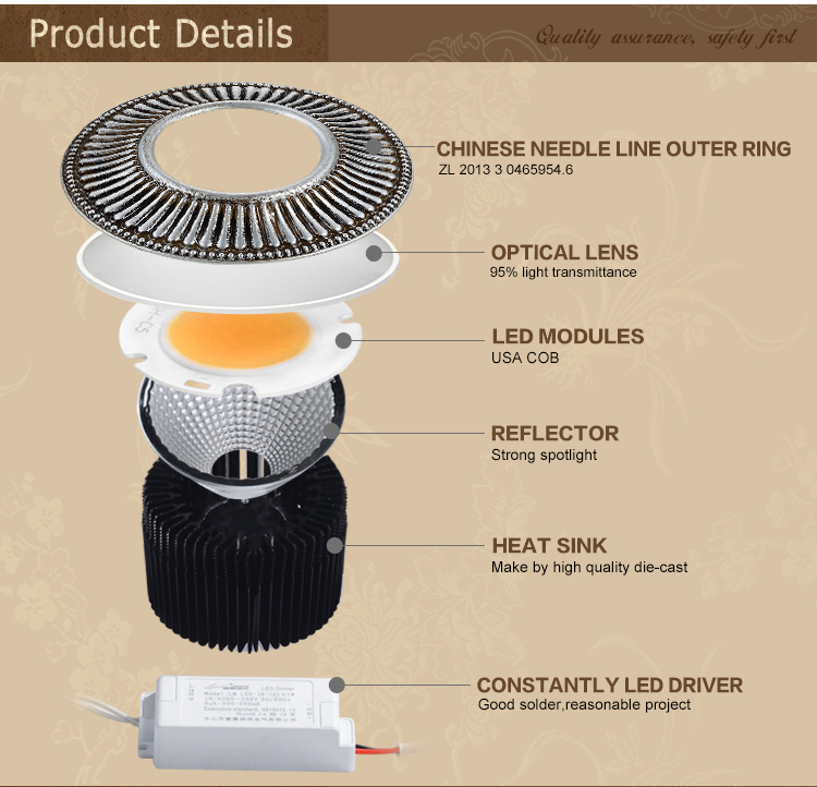 CE approved spotlight 10w led downlight indoor lighting