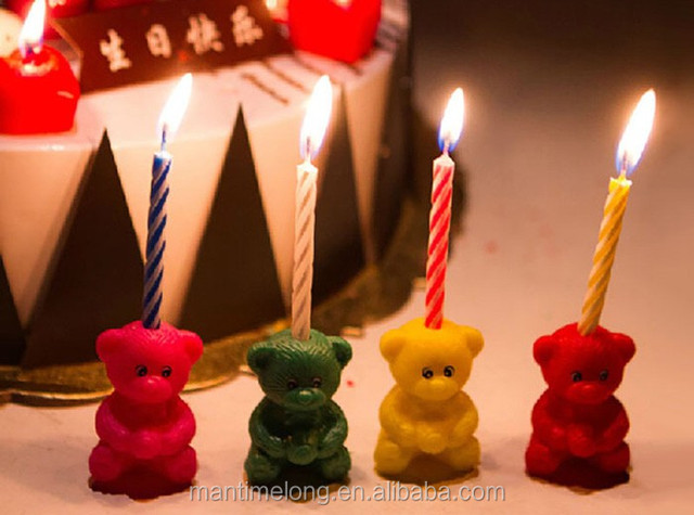Fabulous Creative Candles For Birthday Cake Decoration Bear Shaped Gifts Personalised Birthday Cards Veneteletsinfo