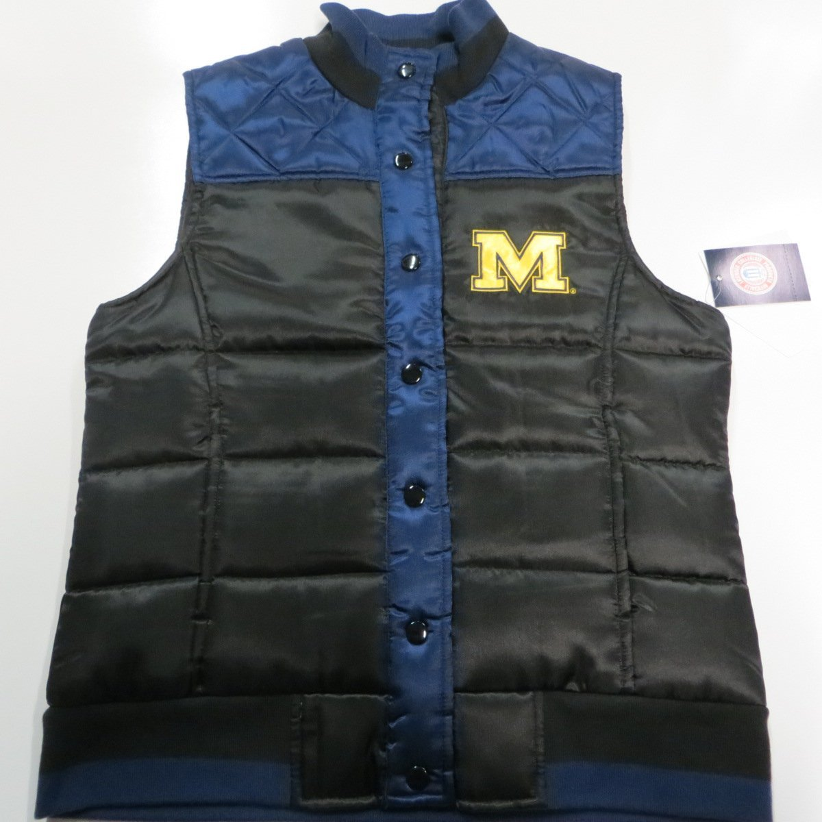 G-III University of Michigan Wolverines Womens XX-Large Snap Front Quilted Puffer Vest Jacket AUMN 24 XXL