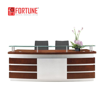 Guangzhou High Quality Usa Modern Office Front Counter Reception Desk Foh Rcw02
