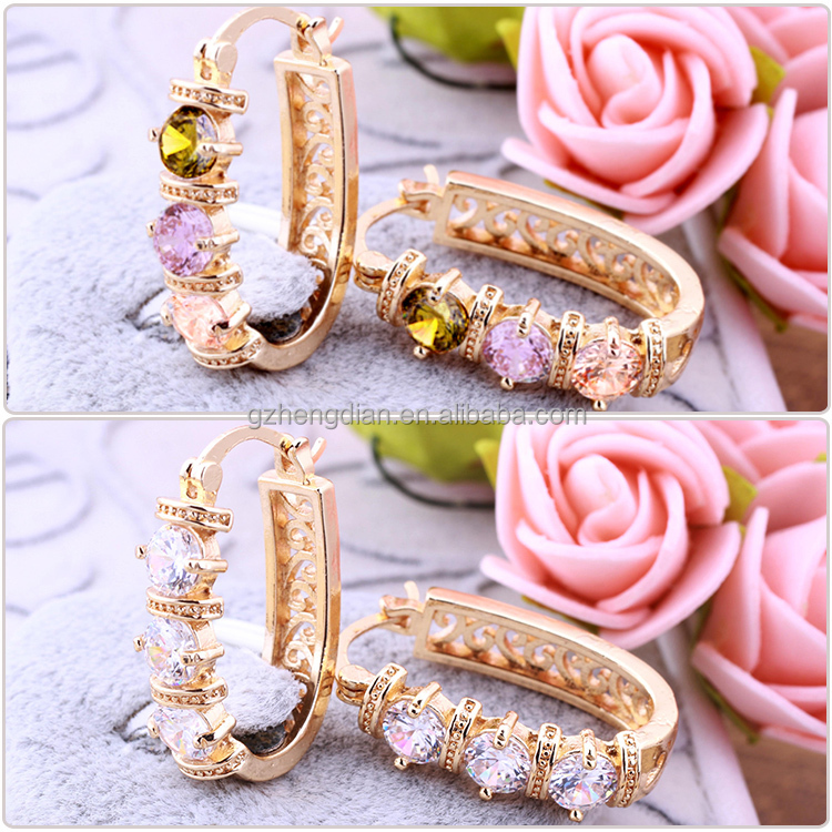 Wholesale Newest Design Fashion Round 18k Gold Plated Earrings ...