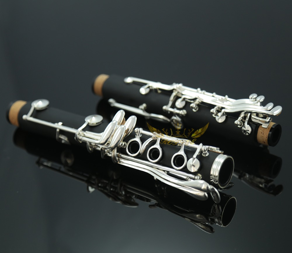 Roffee Composite wood silver plated 17 key Bb tone clarinet
