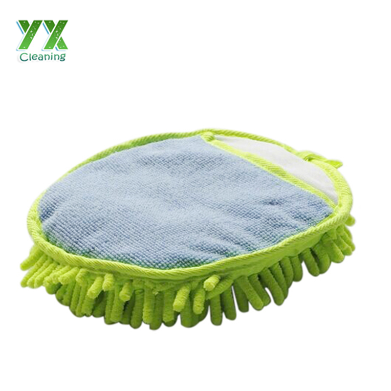 Fancy 100% Polyester Material Car Cleaning Schwammhandschuhe