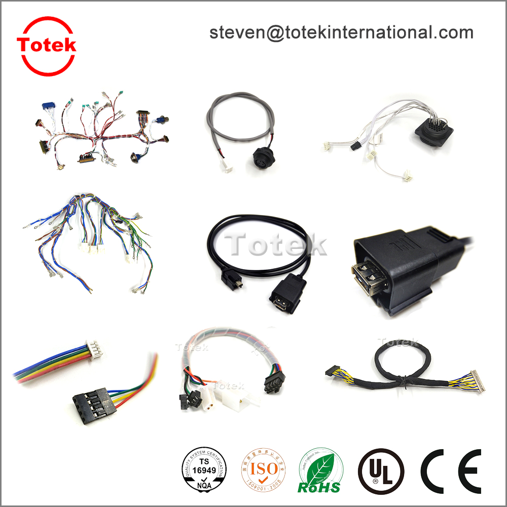 4pin molex 43020 to 3pin AMP 3-643814 connector customized wire harness