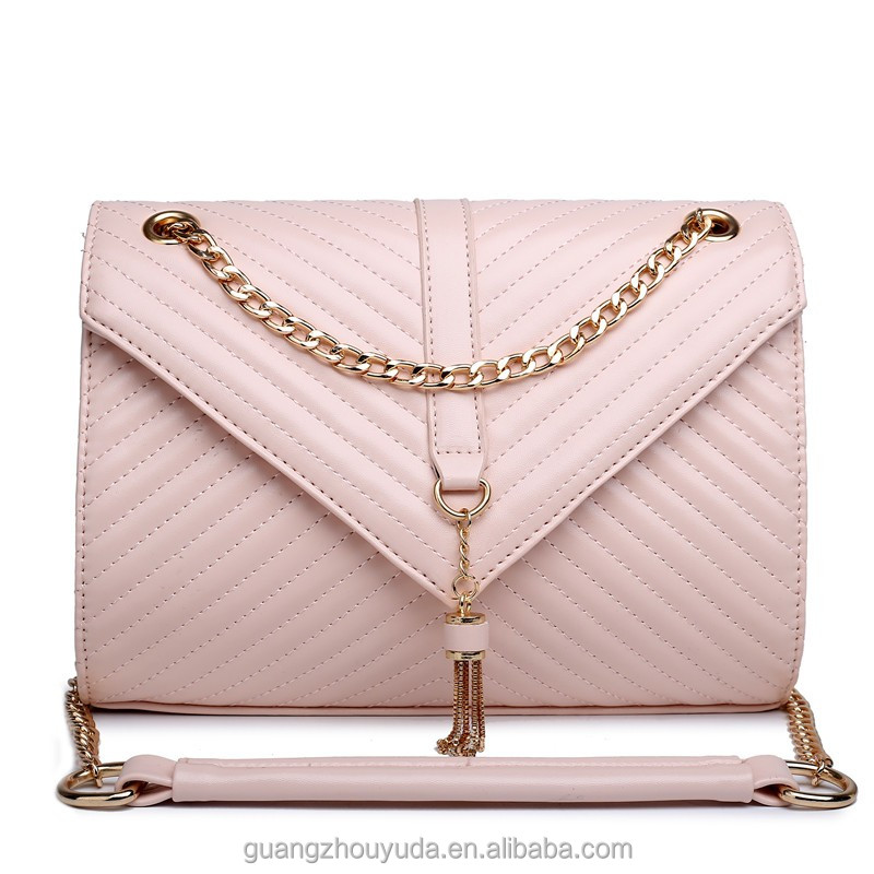 E1635- DESINGER BAG PU LEATHER QUILTED CHAIN BAG LADIES FAUX LEATHER CROSS BODY SHOULDER BAG CLUCTH PURSE For EVENING PARTY