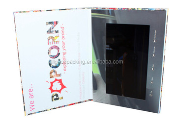 Hot sale china supplier 7 inch lcd touch screen android video brochure from Mehihao packing