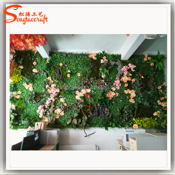 Indoor Or Outdoor Artificial Plant Wall Ornamental Ivy Plastic Fake  Vertical Green Wall