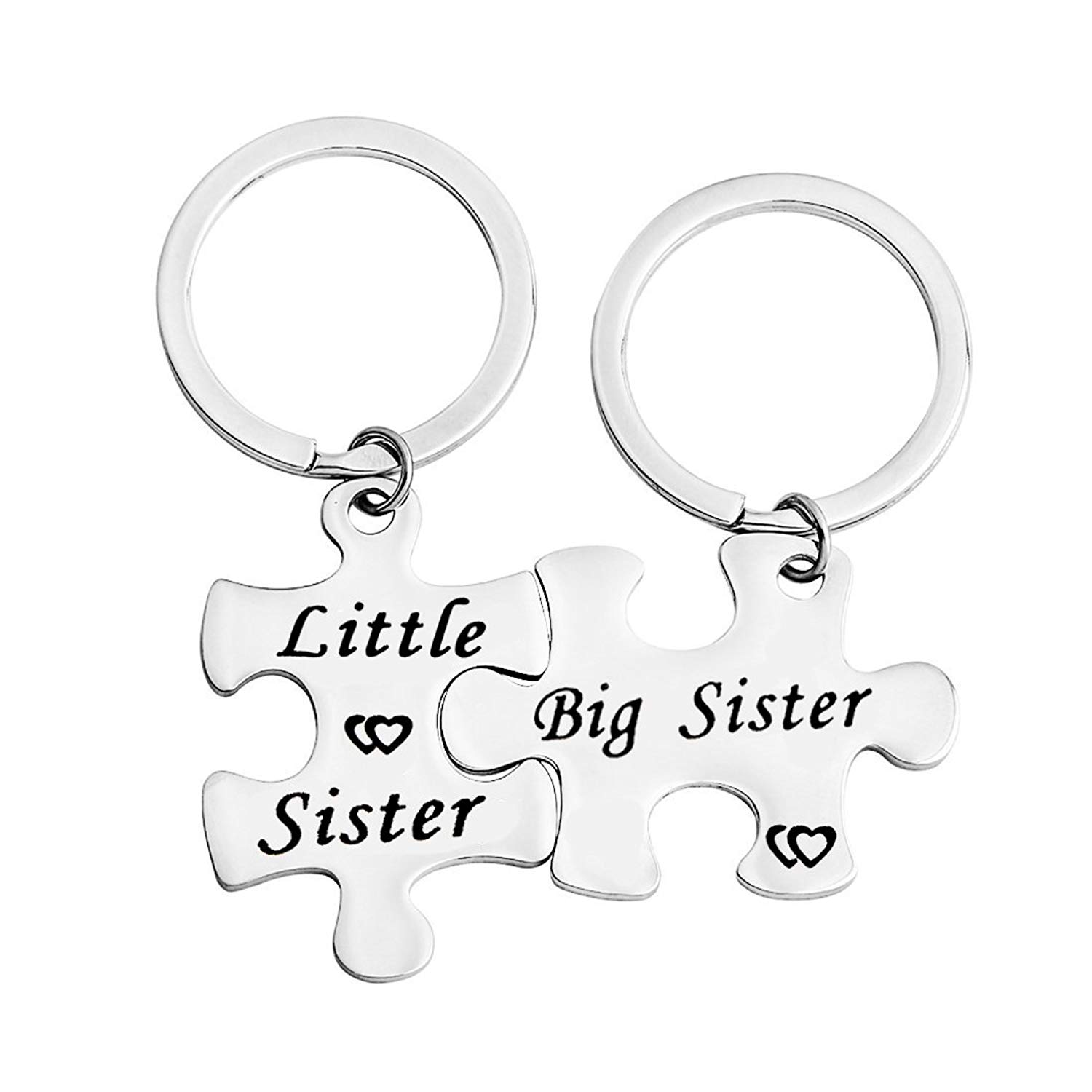 Gzrlyf Big Sister Little Sister Keychain Puzzle Pieces Gift Couples Jewelry Sister In Law Gift