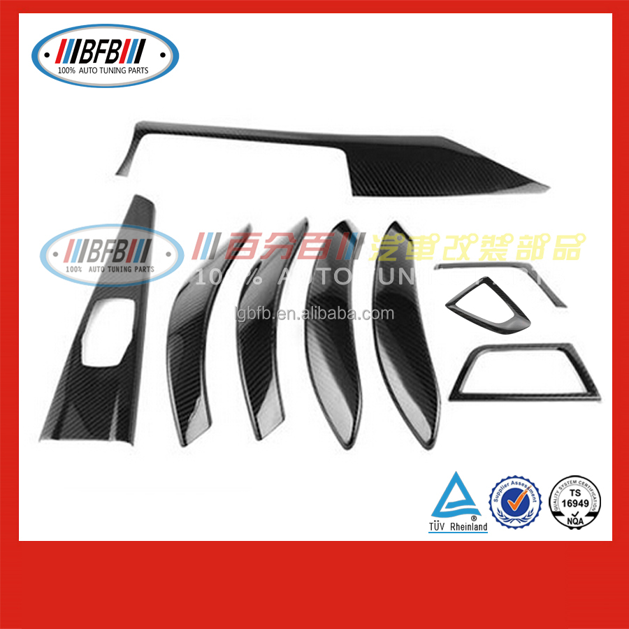 wholesale auto stick on interior trim FOR BMW F30 3 series 2015 2016 carbon black