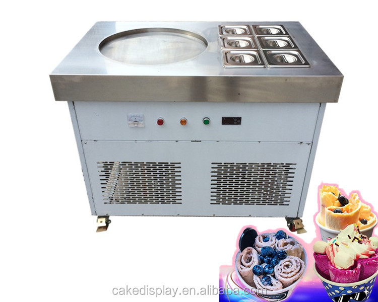 Best Quality Commercial Thailand Rolled Fried Ice Cream Machine Price Guangzhou Factory
