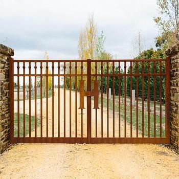 Laser Cut Rusty Red Corten Steel Driveway Gates Buy Cheap Corten
