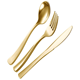 wedding fork spoon knife flatware black and gold cutlery