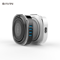 BAVIN new 2018 5W 4USB universal QI round portable wireless mobile phone charger