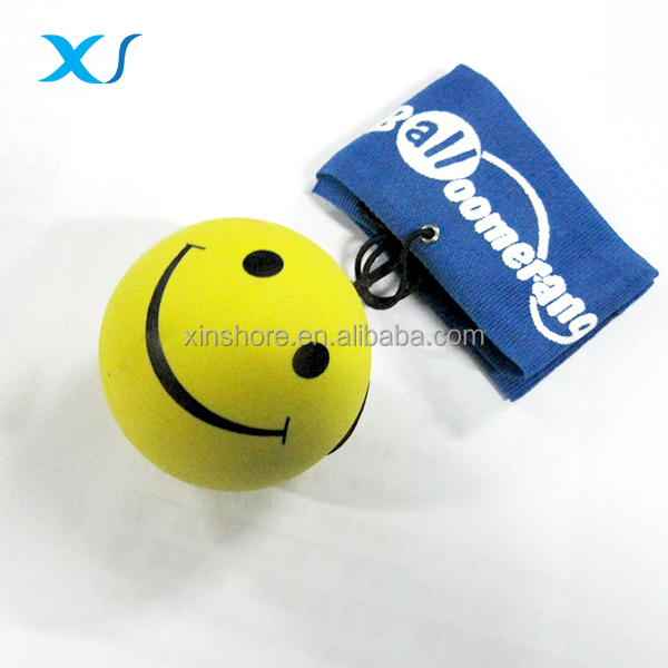 Rubber Bounce Return <strong>Ball</strong> With Wrist Band For Children