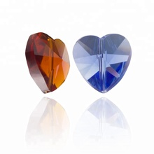 14mm Straight Hole Heart-shaped Pendant Beads Cristal Curtain Door Beads for Chandelier Accessories 28pcs/pack