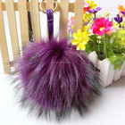 pom pom hat knitted pattern/raccoon fur ball keychain/scrap lots