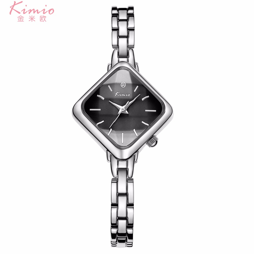 KIMIO K6268M Women Quartz Watch Stainless Steel Band Simple Style Ladies Wristwatch фото