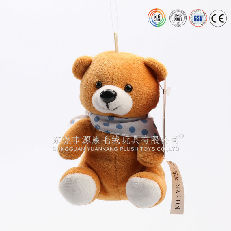 Promotional gift stuffed animal plush teddy bear keychain toy