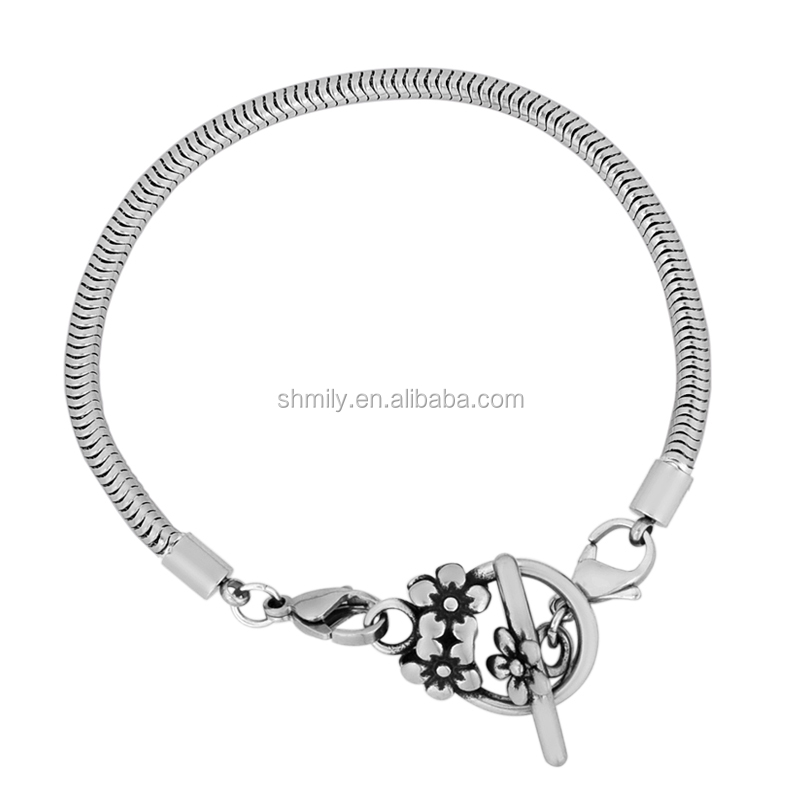 eb856d389302 17 cm-23 cm 7 tamaños 3.2mm redondo de acero inoxidable serpiente cadena  pulseras
