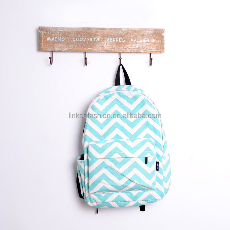 Stock Monogram Personalized Chevron School Bag China Wholesale ...