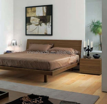 Queen Size Bed Bedroom Furniture Modern Simple Wooden Bed Designs ...
