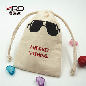 Best Selling Printed Cotton Bags Drawstring Canvas Gift Pouch