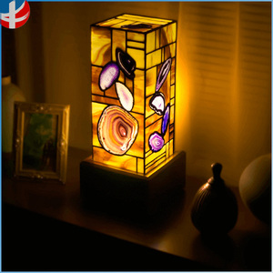 stained glass agate Mosaic wall decorative lamp