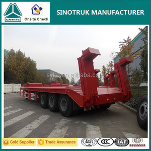 Strong Steel Material 60 Tons Low Bed Truck Trailer Sale in Qatar